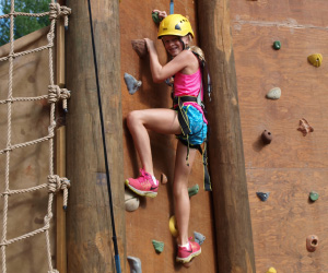 Camp Harrison Climbing Wall