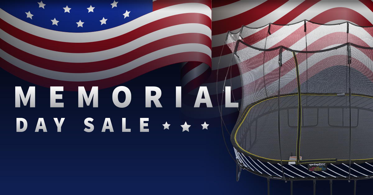 Springfree Trampoline Memorial Day Sale - save up to $548!