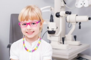 Eye exam girl
