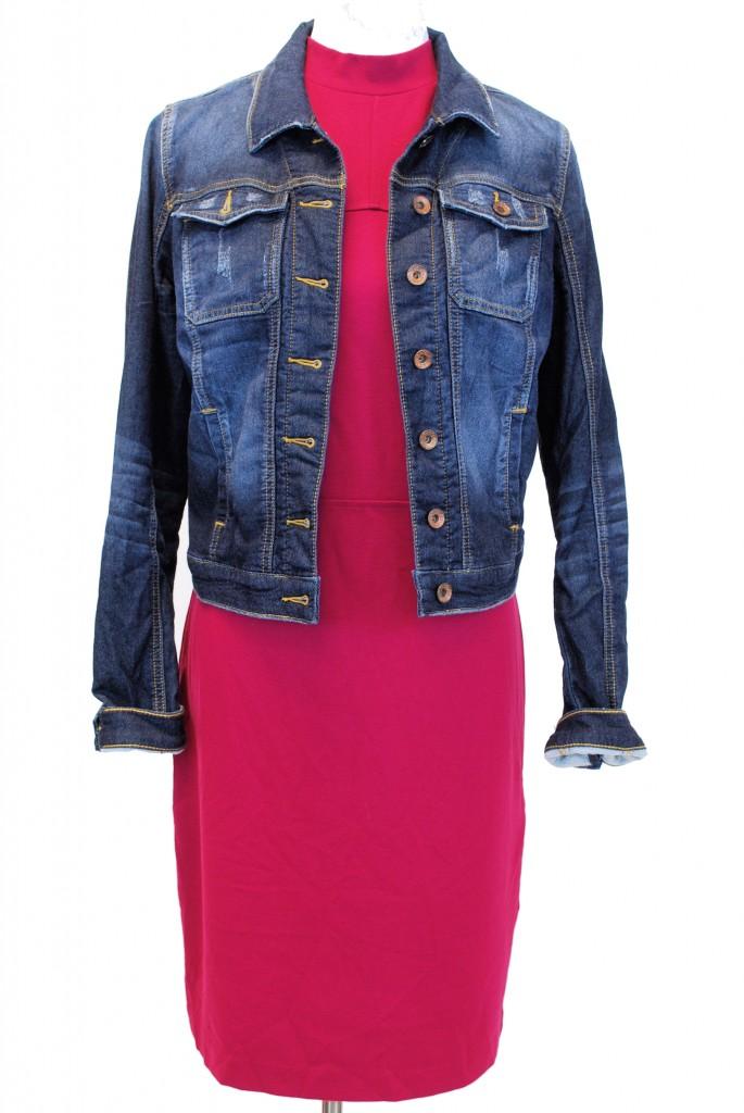 Kensie dress, M, Original Retail - $89, CWS Price - $25, Guess jacket, M, Original Retail - $128, CWS Price - $28
