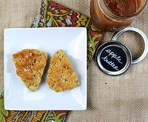 Easy Apple Butter with Scones CSP