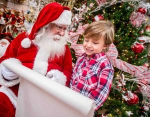 Santa with a kid