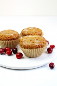 Whole Grain Cranberry Orange Muffins 2
