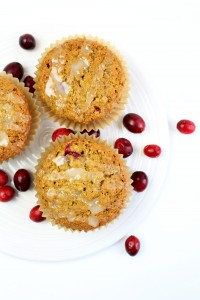Whole Grain Cranberry Orange Muffins