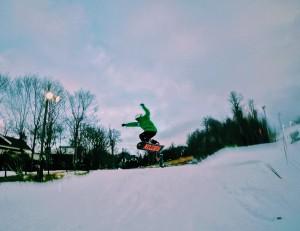 Beech Mountain CSP snowboarder